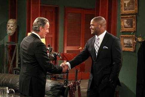 Eric Braeden & Michael Robinson/Photo Credit: CBS