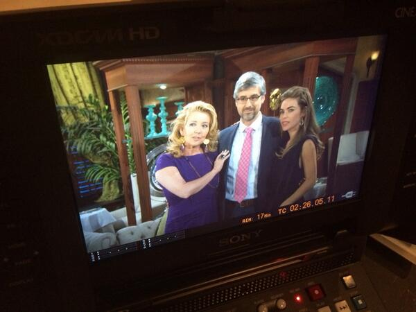 Melody Thomas Scott, Mo Rocca, and Amelia Heinle