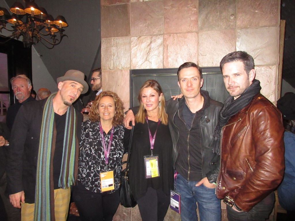 (l-r) Mark Renk (composer), Kim A. Snyder (director), Maria Cuomo Cole (producer), Fil Eisler (composer) Christopher Drake (composer)/Photo Credit: CW3PR