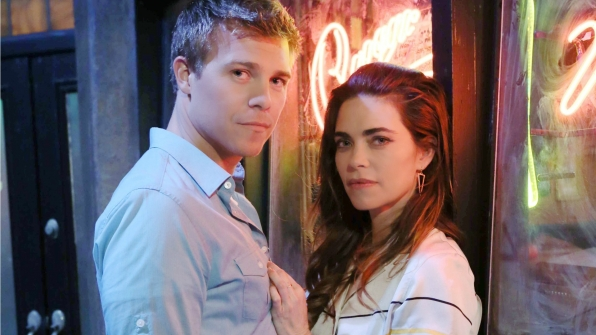 Michael Roark and Amelia Heinle/Photo Credit: CBS